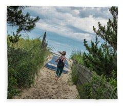 Get To The Beach Fleece Blanket