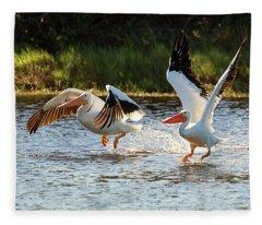 Getting Airborne Fleece Blanket
