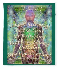 Getting Super Chart For Affirmation Visualization V3u Fleece Blanket