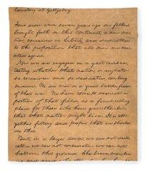 Gettysburg Address Fleece Blanket