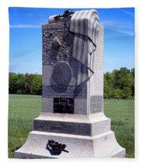 Gettysburg National Park 121st Pennsylvania Infantry Memorial  Fleece Blanket