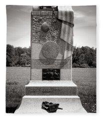 Gettysburg National Park 121st Pennsylvania Infantry Monument Fleece Blanket