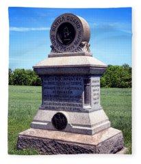 Gettysburg National Park 80th Ny Infantry Militia Memorial Fleece Blanket