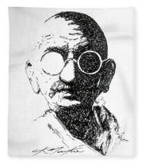 Ghandi Fleece Blanket
