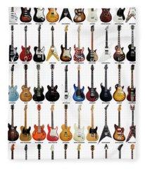 Guitar Legends Fleece Blanket