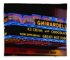 Ghirardelli Chocolate Neon Fleece Blanket