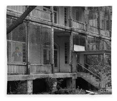 Ghost At The Asylum Fleece Blanket