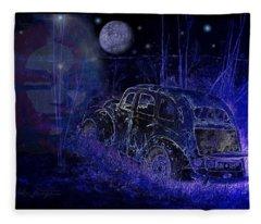 Ghost  Car Fleece Blanket