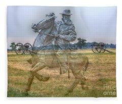 Ghost Of Gettysburg Fleece Blanket