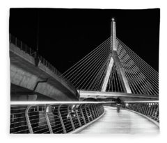 Ghost Rider At Zakim Bridge Fleece Blanket