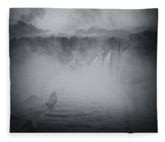 Ghost Ship 1 Fleece Blanket