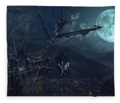 Ghost Ship Fleece Blanket
