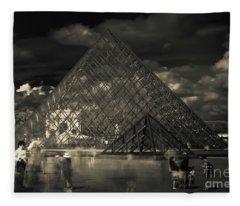 Ghosts Of The Louvre Fleece Blanket