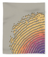 Giant Iridescent Fingerprint On Beige Fleece Blanket