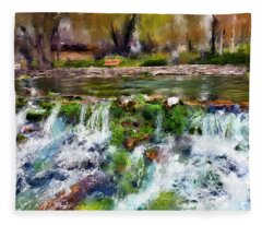 Giant Springs 1 Fleece Blanket