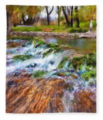Giant Springs 2 Fleece Blanket