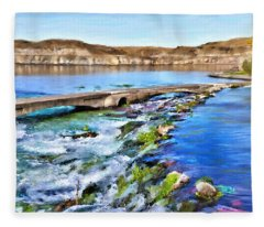 Giant Springs 3 Fleece Blanket