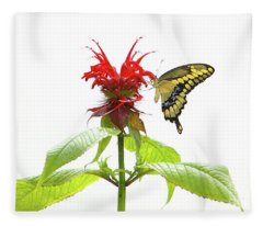 Giant Swallowtail Butterfly Fleece Blanket