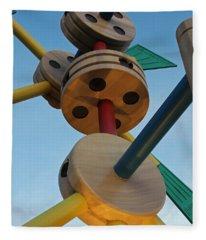 Giant Tinker Toys Fleece Blanket