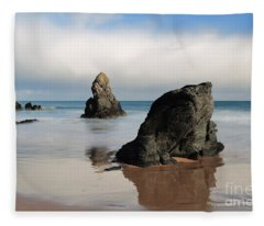 Giants On Sango Bay Fleece Blanket