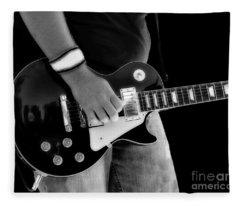 Gibson Les Paul Guitar  Fleece Blanket
