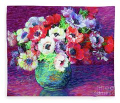 Gift Of Anemones Fleece Blanket