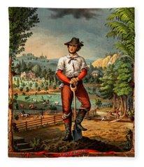 Gift For The Grangers 1873 Victoiran National Grange Agriculture Promotional Art Fleece Blanket