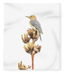 Gila Woodpecker Fleece Blanket
