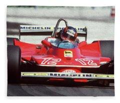 Gilles Villeneuve, Ferrari Legend - 01 Fleece Blanket