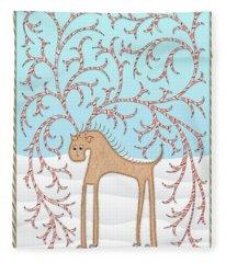 Ginger Cane Fleece Blanket