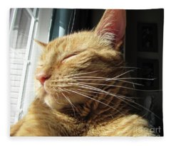 Ginger Tabby Fleece Blanket