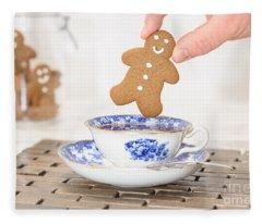 Gingerbread In Teacup Fleece Blanket