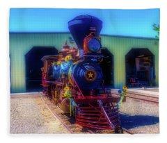 Gingerbread Locomotive Fleece Blanket