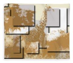 Giraffe 4 Fleece Blanket