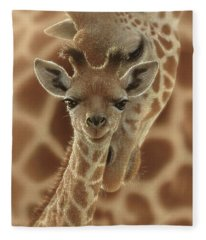 Giraffe Baby - New Born Fleece Blanket