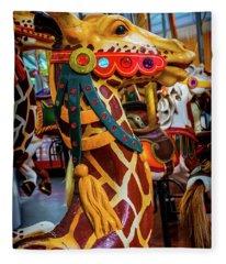 Giraffe Ride Fleece Blanket