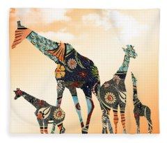 Giraffe Stroll Fleece Blanket