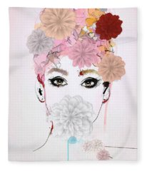 Girl Flower Power Fleece Blanket