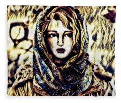 Girl In Hijab Fleece Blanket