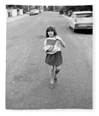 Girl On 13th Street, 1971 Fleece Blanket