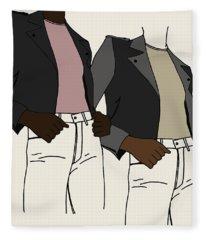 Girl Power Fleece Blanket