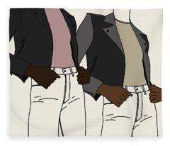 Fleece Blanket featuring the digital art Girl Power by Cortney Herron