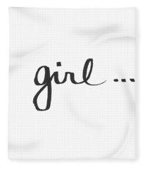 Girl Talk- Art By Linda Woods Fleece Blanket