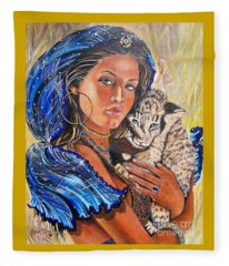 Independent Indian Girl.              From The Attitude Girls  Fleece Blanket