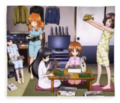 Girls Und Panzer Fleece Blanket