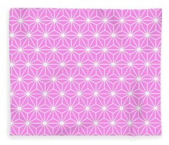 Girly Pink Geometric Flowers And Florals Isosceles Triangle Fleece Blanket