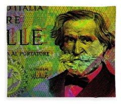 Giuseppe Verdi Portrait Banknote Fleece Blanket