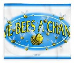 Give Bees A Chance Fleece Blanket