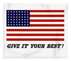 United States Propaganda Digital Art Fleece Blankets