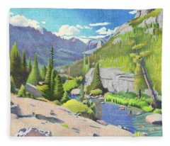 Glacier Gorge Fleece Blanket